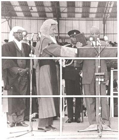 Hastings Banda was sworn in as President of the Republic in 1966