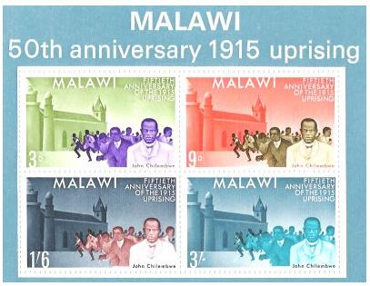 The Chilembwe uprising on postage stamps