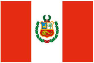 The current flag of Peru