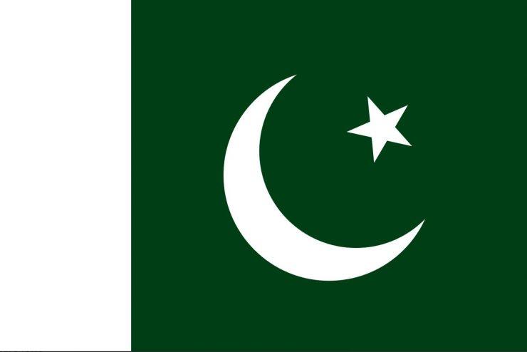 The flag of Pakistan